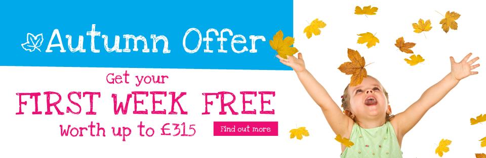 Boys & Girls Nursery Autumn Offer