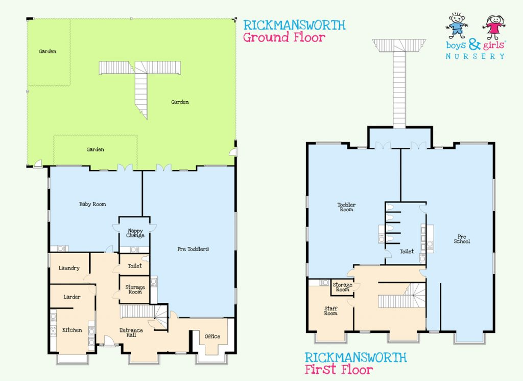 Rickmansworth nursery room layout