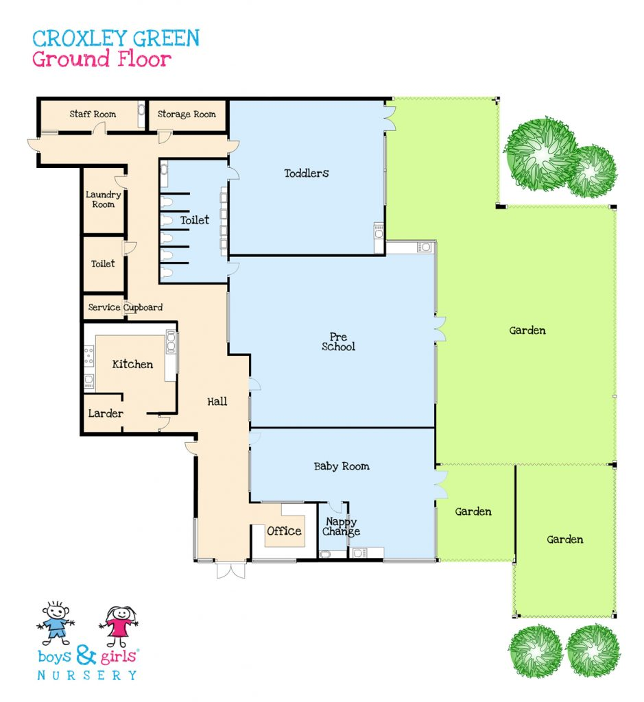 Pre school nursery in croxley green boys girls nursery for Floor plan websites