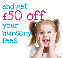 and get £50 off your nursery fees